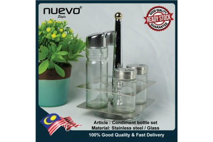 Stainless Steel Condiment and Spice Rack
