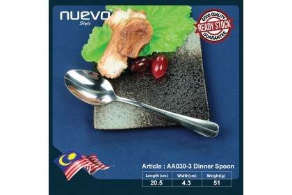 AA030 STAINLESS STEEL DINNER KNIFE/ SPOON/FORK/ SOUP SPOON / DESSERT SPOON / STEAK KNIFE