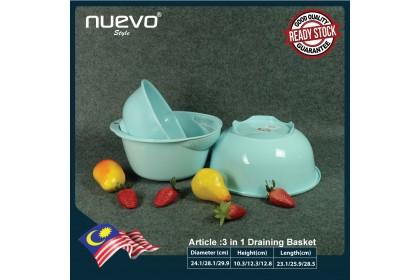 3 in 1 Multi-Purpose Plastic Draining Basket