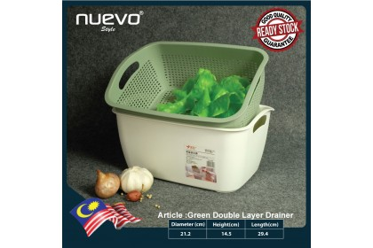 S size Double Layer Plastic Draining Basket