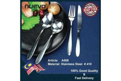 A008 STAINLESS STEEL DINNER KNIFE/ SPOON / FORK / ICE TEA SPOON / TEA SPOON